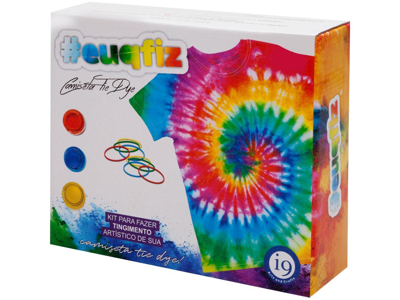 Kit Tie Dye com Camiseta #euquefiz - i9 Brinquedos