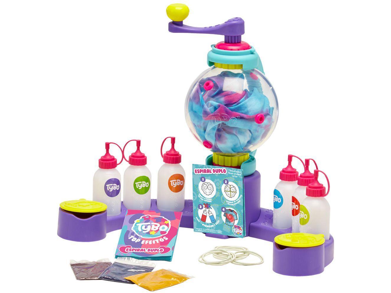 Kit Tie Dye Infantil 12 Cores Estúdio Tie-Dye - Kit Tybo Fun