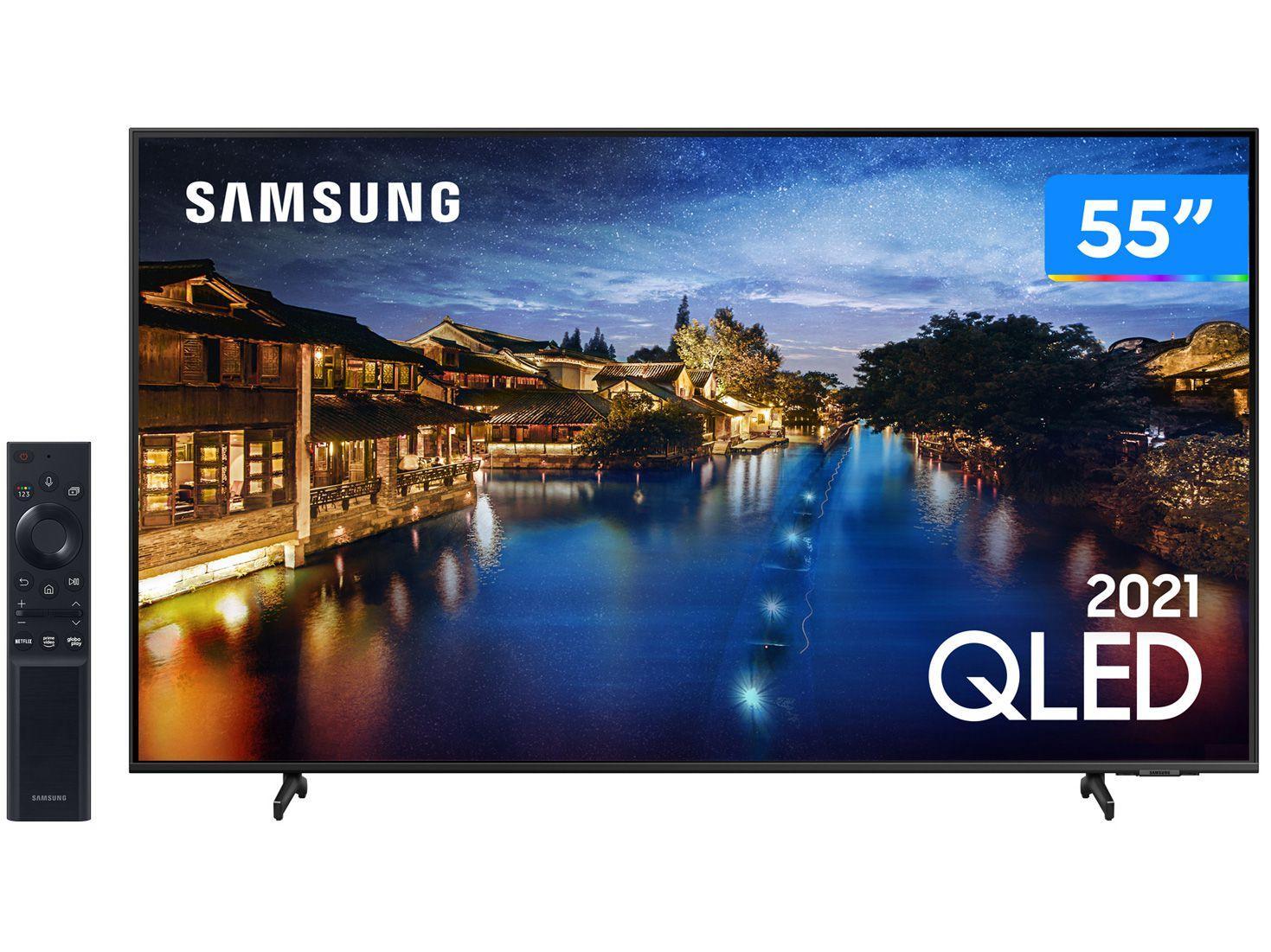 """Smart TV 55"""" 4K QLED Samsung 55Q60AA - Wi-Fi Bluetooth HDR 3 HDMI 2 USB"""