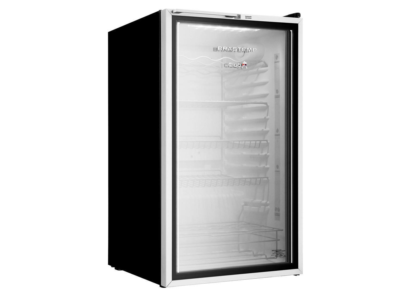 Frigobar Brastemp 120L Preta e Branca - com Porta de Vidro BZA12 AF