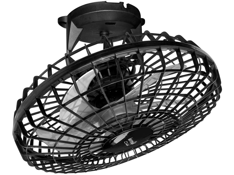 Ventilador de Teto Loren Sid Turbo Orbital Wind - Preto 6 Pás Giro 360º 50cm
