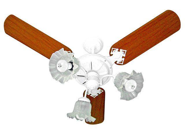 Ventilador de Teto 3 Pás 3 Velocidades Mogno - Venti-Delta New Beta