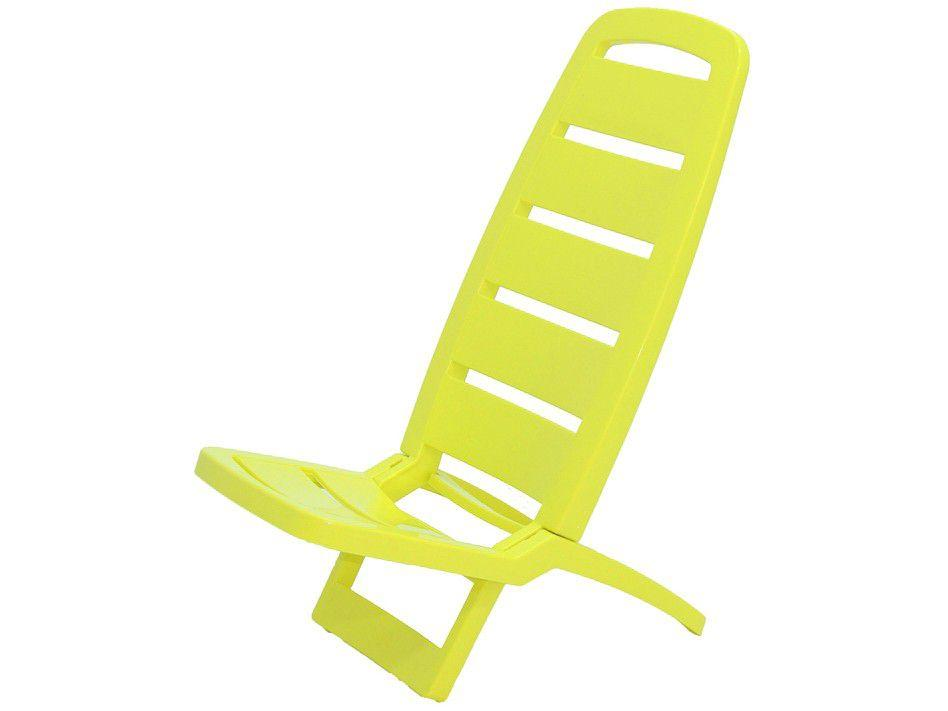 Cadeira de Praia Amarela Tramontina - Basic Guarujá