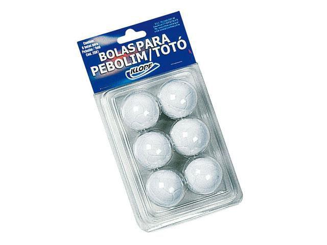 Blister com 6 bolas de Pebolim Totó - Klopf 32081