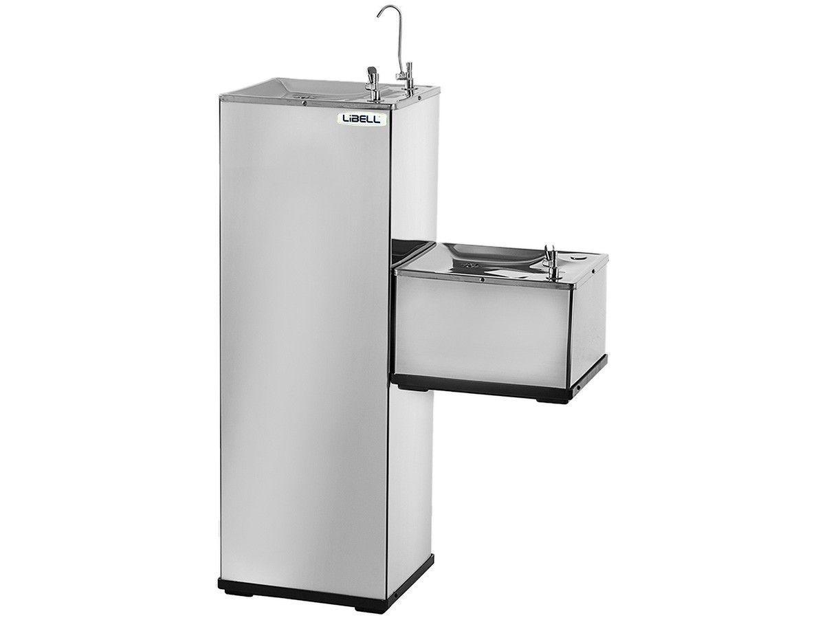 Purificador de Coluna Refrigerado por Compressor - Inox - Libell Press Side