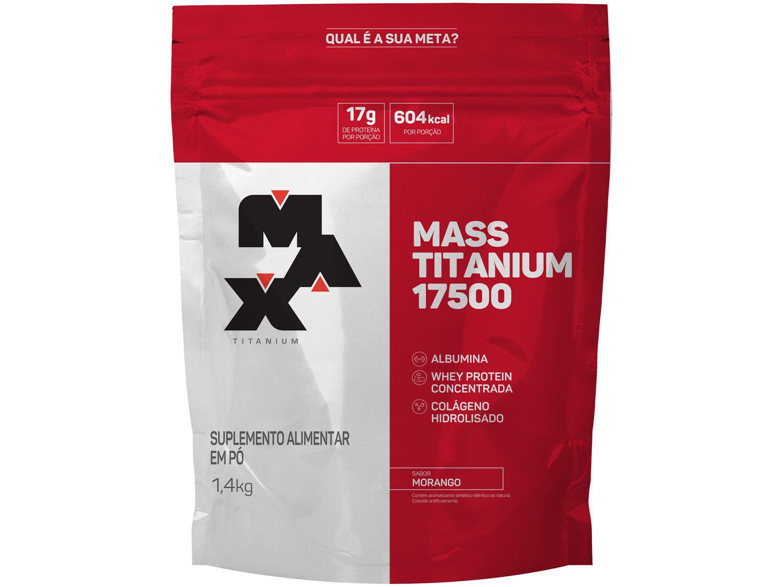 Albumina Max Titanium Mass Titanium 17500 - em Pó 1,4kg Morango