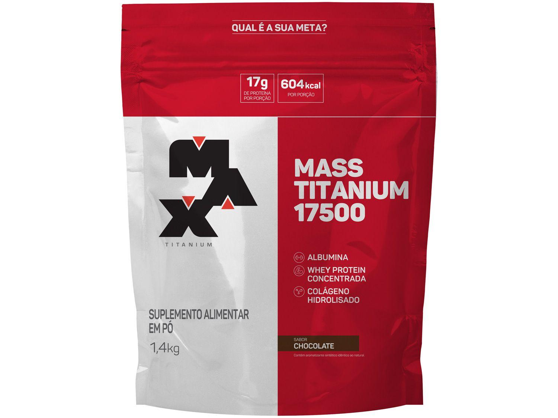 Albumina Max Titanium Mass Titanium 17500 - em Pó 1,4kg Chocolate