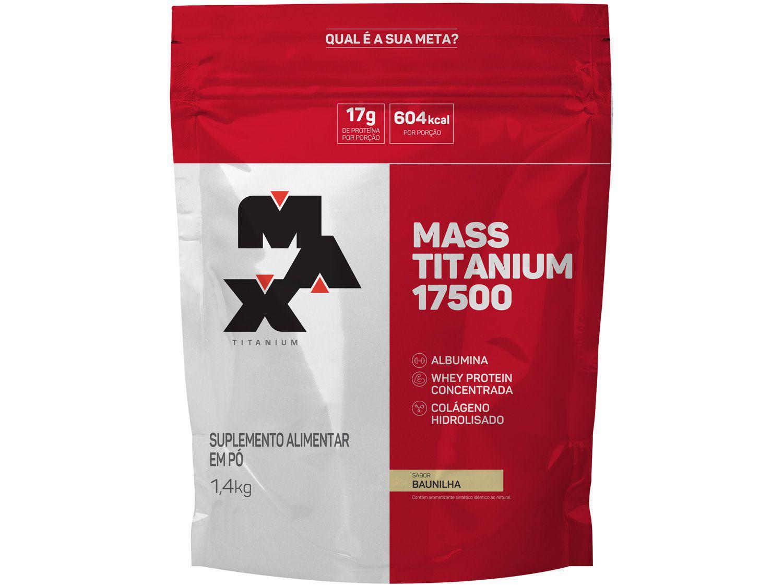 Albumina Max Titanium Mass Titanium 17500 - em Pó 1,4kg Baunilha