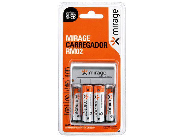 Carregador de Pilhas AA ou AAA - Mirage RM02 Multilaser