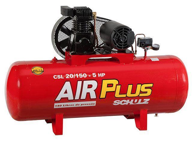 Compressor de Ar Schulz CSV 20/150 150 Litros - Pressão Máxima 140 PSI Potência 5 HP