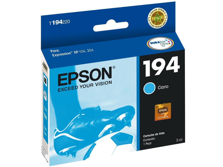 Cartucho de Tinta Epson T194220-BR Ciano - Original