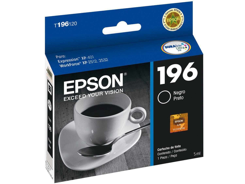 Cartucho de Tinta Epson T196120 Br Preto - Original