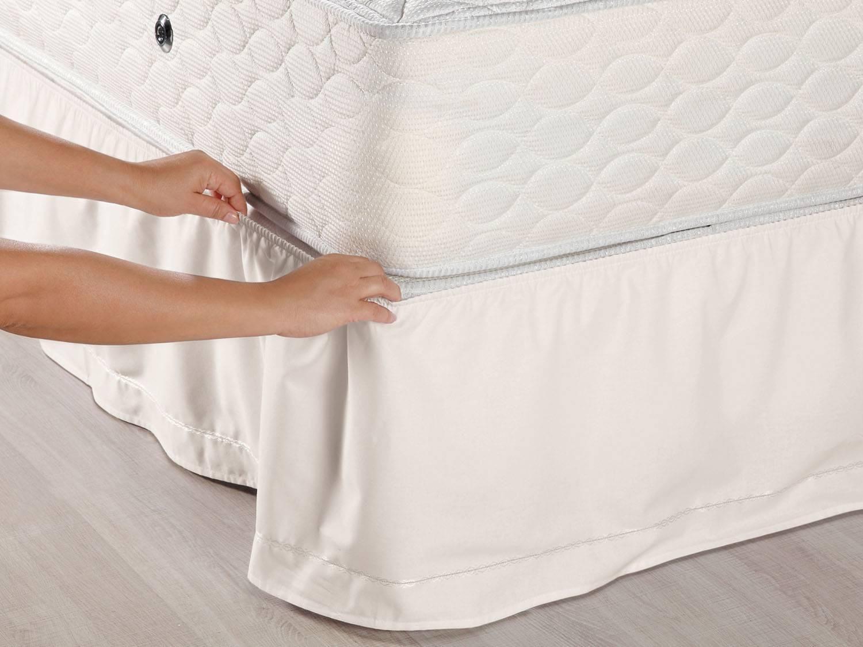 Saia para Cama Queen Size Veste Fácil - 158x203cm - Santista