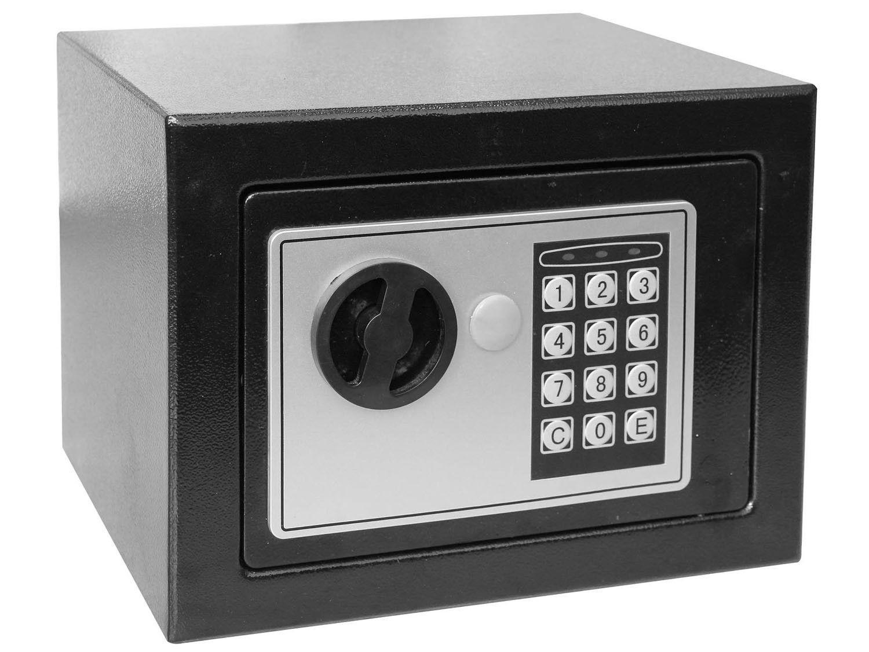 Cofre Eletrônico Pequeno em Aço com Chave - Safewell Burglary Safe 17EF