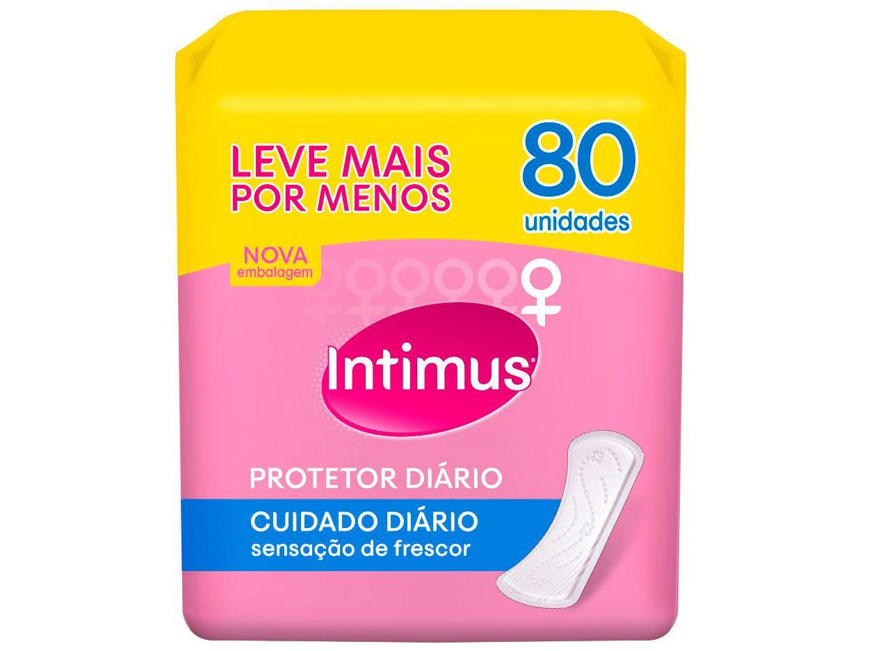 Absorvente Intimus Days Protetor Diário sem Abas - 80 Unidades