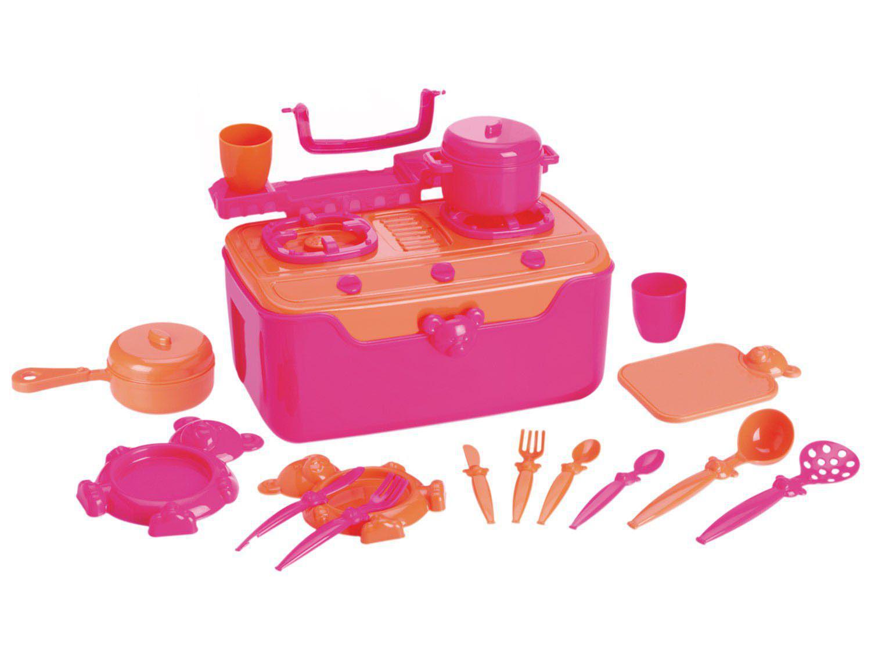 Fogão & Cia Infantil com Acessórios - Roma Brinquedos Maleta