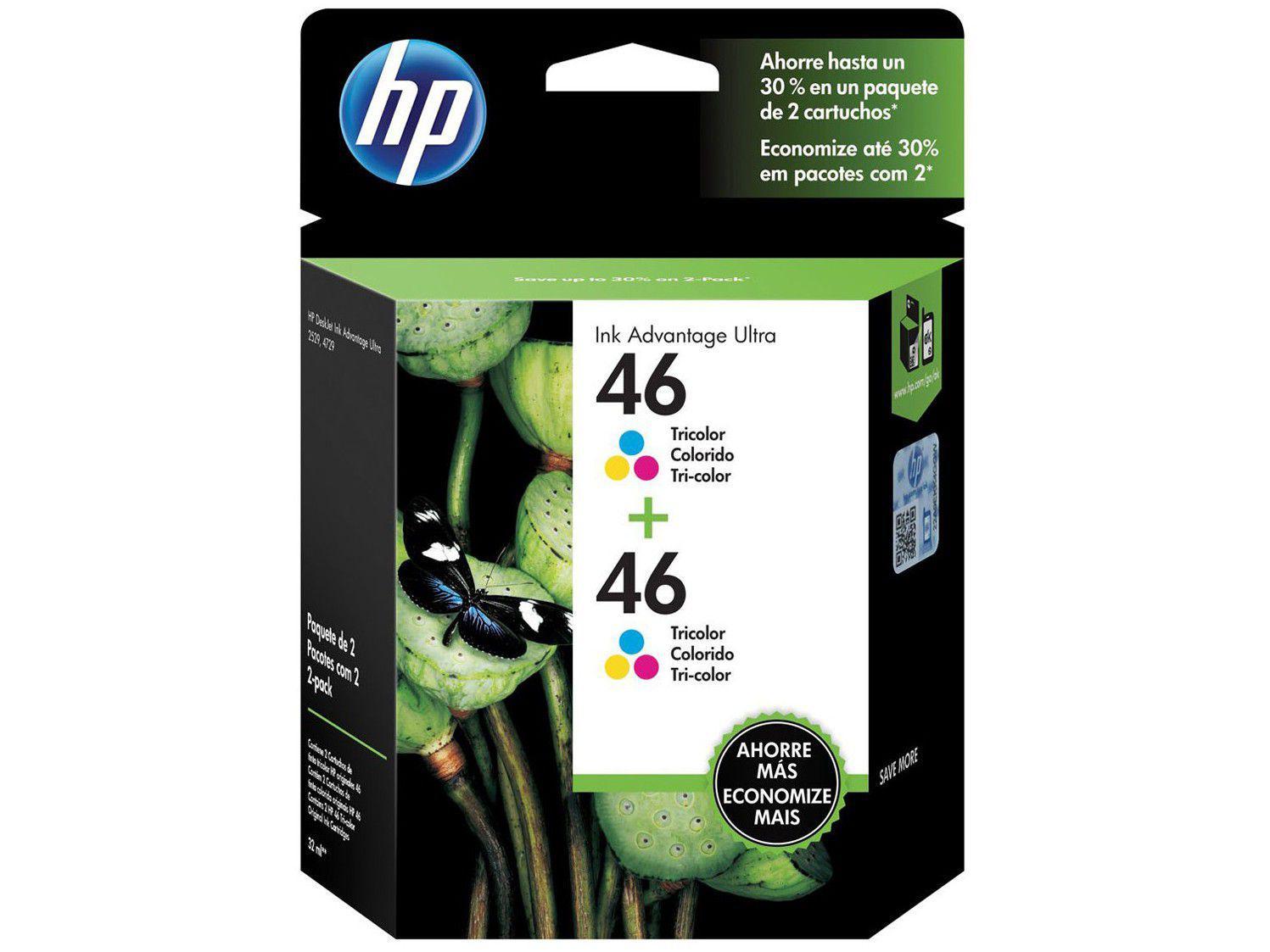 Cartucho de Tinta HP Colorido 46 Original P/ - HP 2529 2029 2020 2520 4729 5738