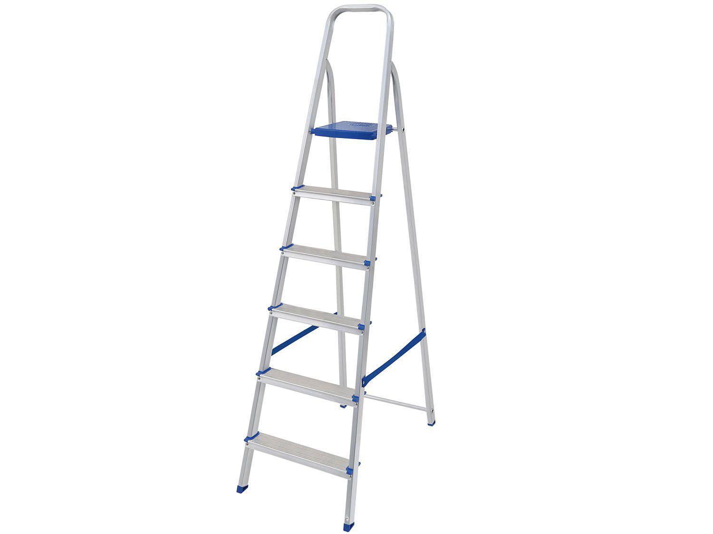 Escada 6 Degraus Alumínio Mor - 5104