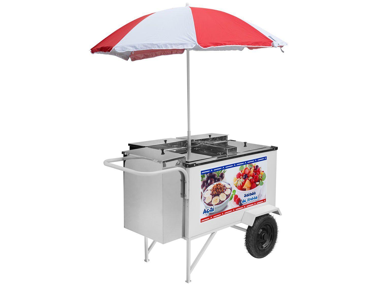 Carrinho de Salada de Frutas e Açaí Industrial - Armon Street Food - CCSFA-020