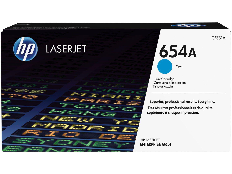 Toner HP 654A LaserJet - Ciano