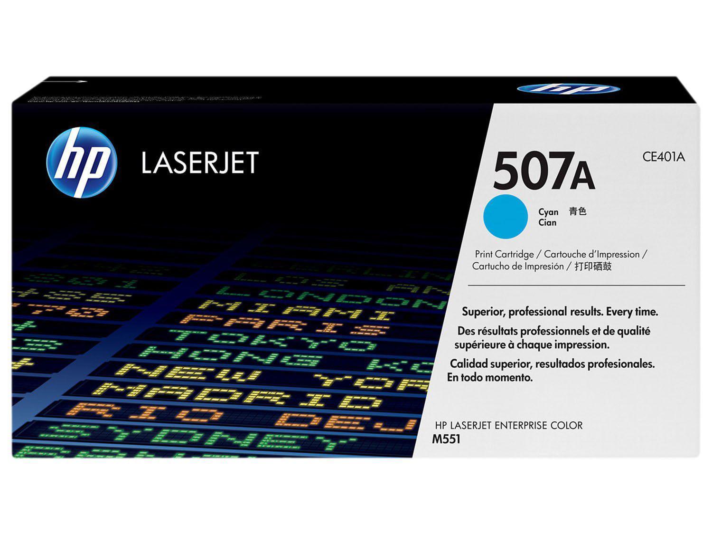 Toner HP 507A LaserJet - Ciano