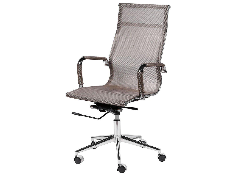 Cadeira Cromado para Escritório Giratória - Ór Design Office Eames Alta