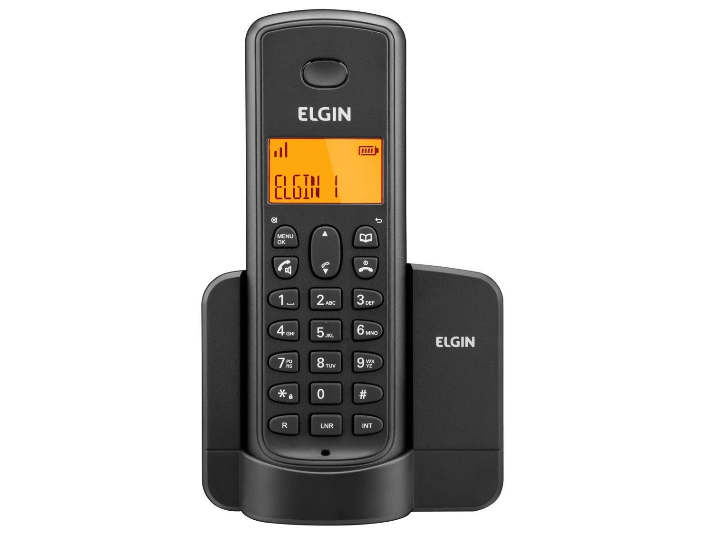 Telefone Sem Fio Elgin TSF8001 - Identificador de Chamada Viva Voz Preto