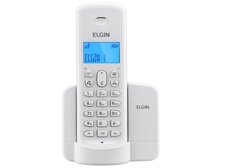 Telefone Sem Fio Elgin TSF8001 - Identificador de Chamada Viva Voz Branco