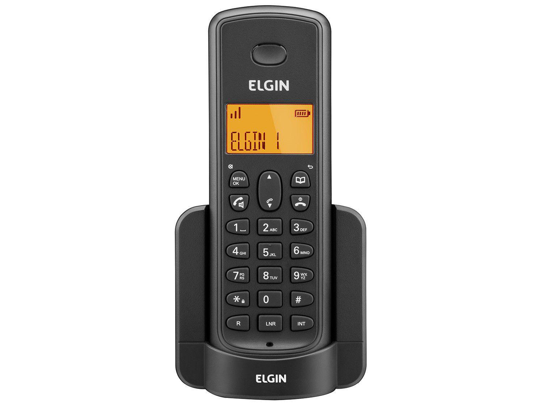 Ramal Sem Fio Elgin TSF8000R - Identificador de Chamada Viva Voz Preto