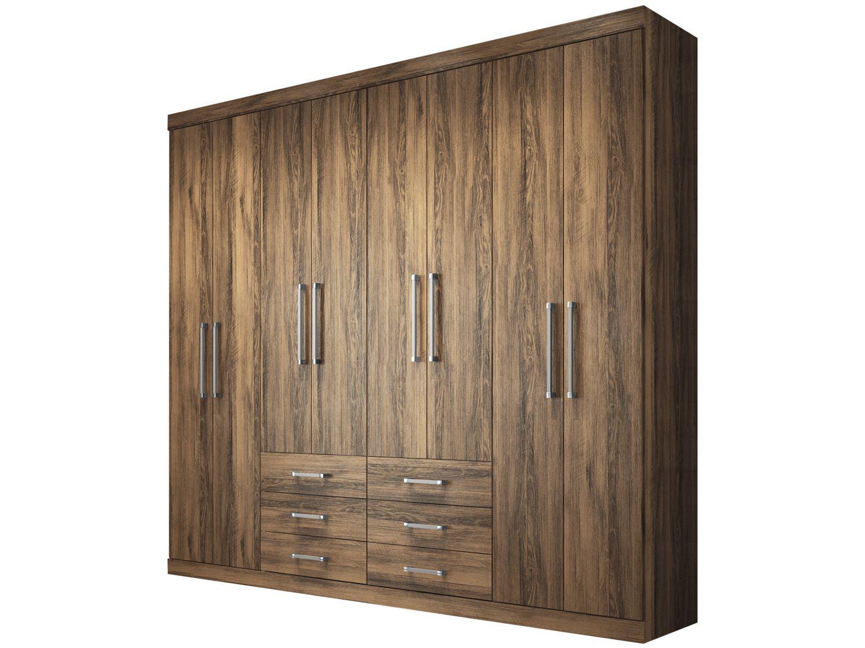 Guarda-roupa Casal 8 Portas 6 Gavetas - Santos Andirá Havana Master 132311
