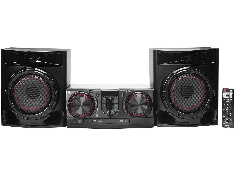 Mini System LG Bluetooh USB MP3 CD Player 440W - Karaokê CJ44 X Boom