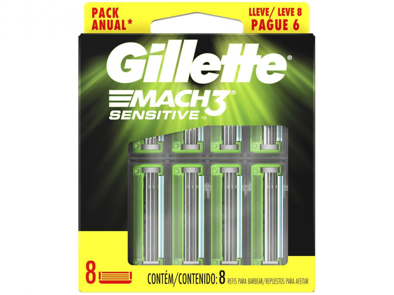 Carga Gillette Mach3 Sensitive - 8 Unidades