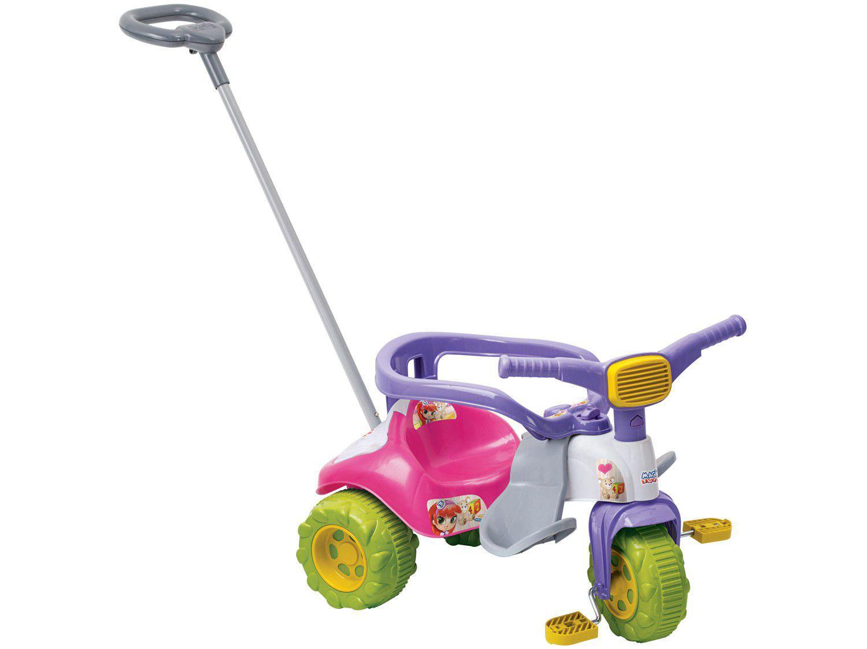 Triciclo Infantil Magic Toys Zoom Meg - Haste Removível
