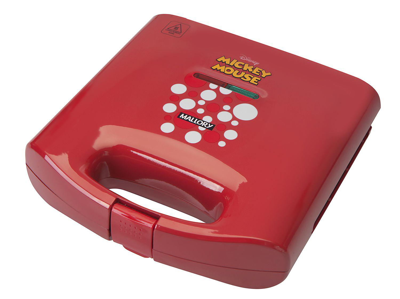 Sanduicheira/Grill Mallory Mickey Mouse - 750W Antiaderente Vermelho