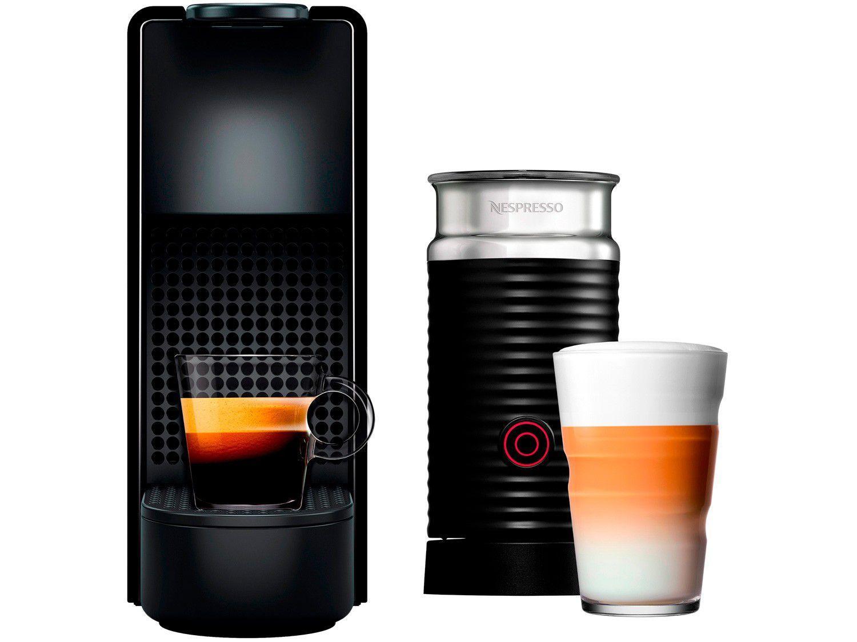 Cafeteira Nespresso Combo Essenza Mini - + Aero3 Preta
