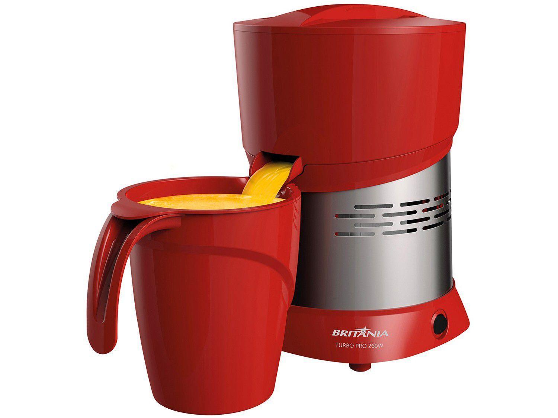 Espremedor de Frutas Britânia Turbo Pro - Elétrico 260W 1,3L Vermelho