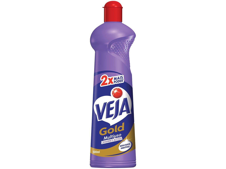 Veja Gold Multiuso - Lavanda e Álcool Squeeze - 500ml