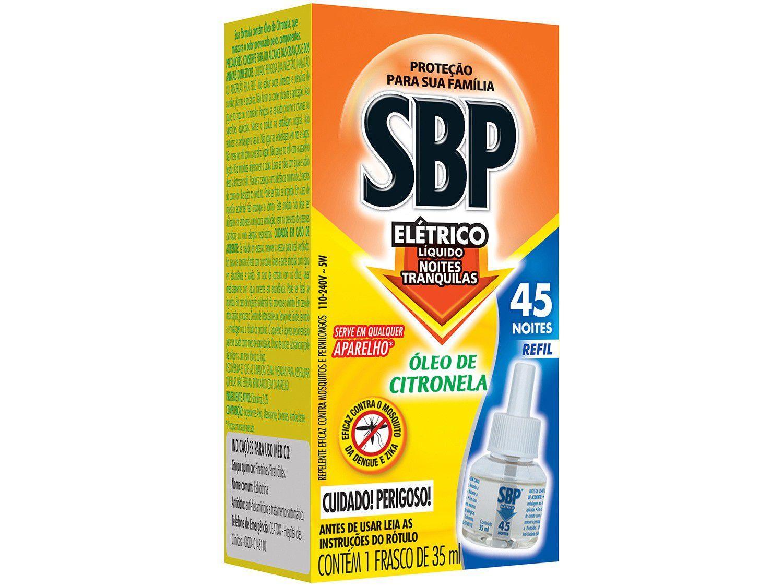 Repelente Elétrico SBP Líquido Refil - Noites Tranquilas - Óleo de Citronela 1 Unidade