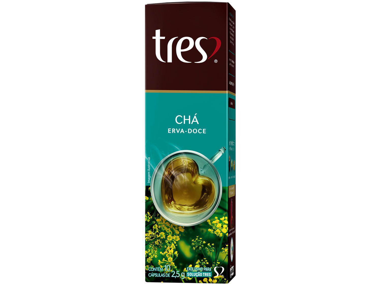 Cápsula Chá de Erva Doce TRES 3 Corações - 10 Cápsulas