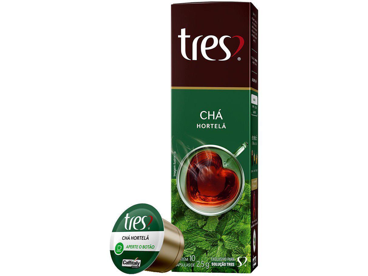 Cápsula Chá de Hortelã TRES 3 Corações 10 Cápsulas