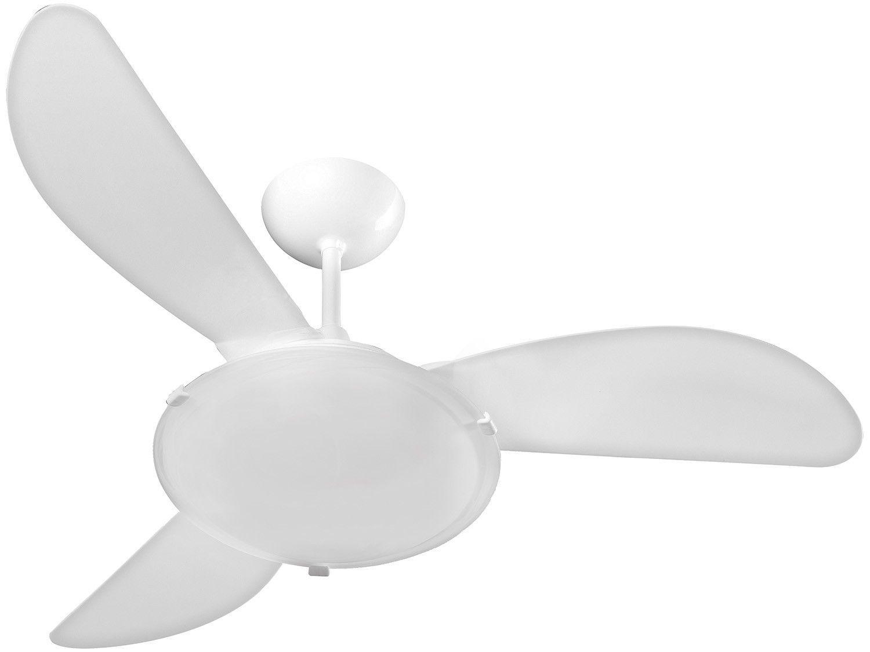 Ventilador de Teto Ventisol Sunny LED 3 Pás - 3 Velocidades Branco