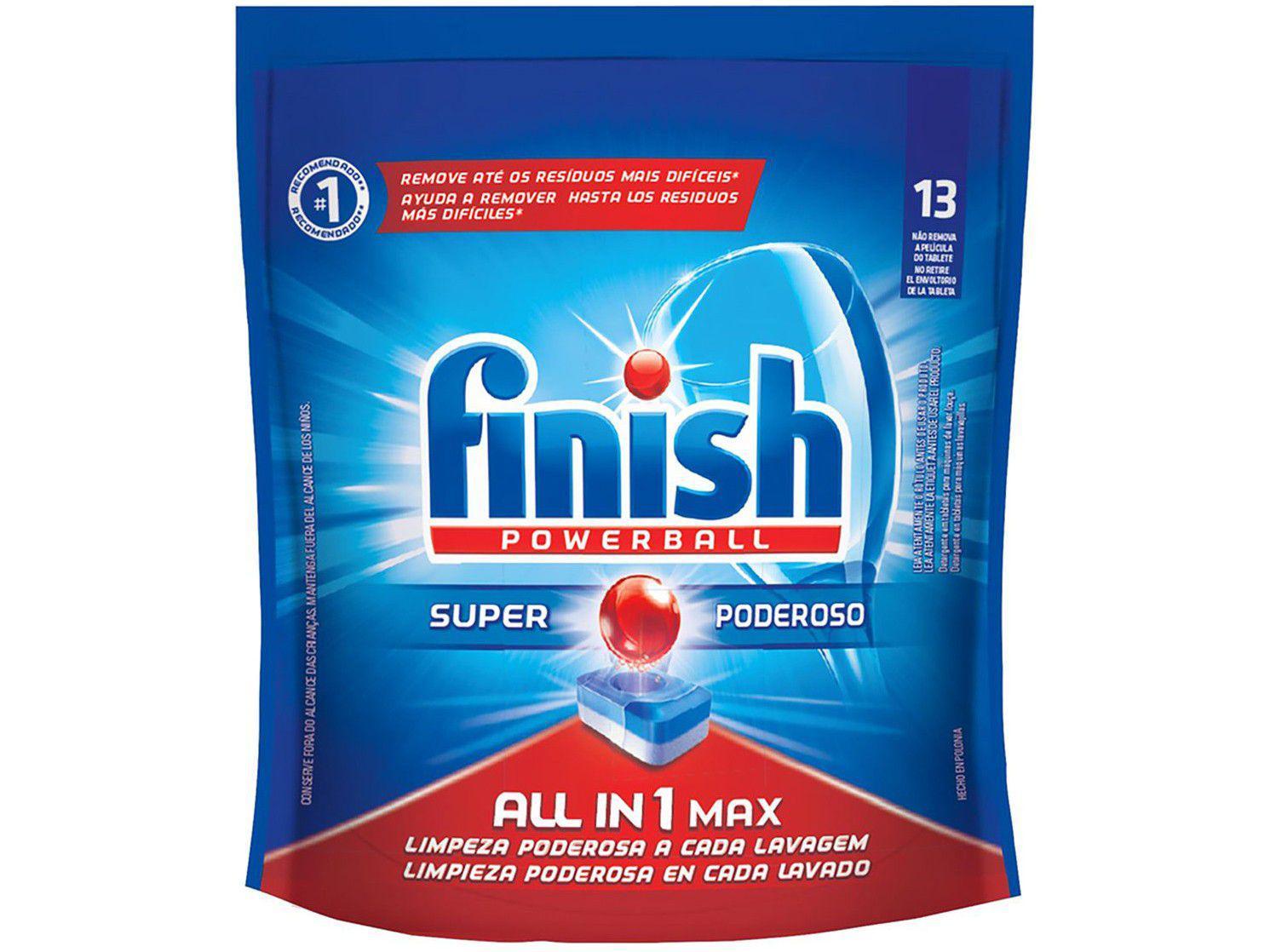 Sabão para Lava-Louças Finish Powerball - Super Poderoso Tablete 211,9g