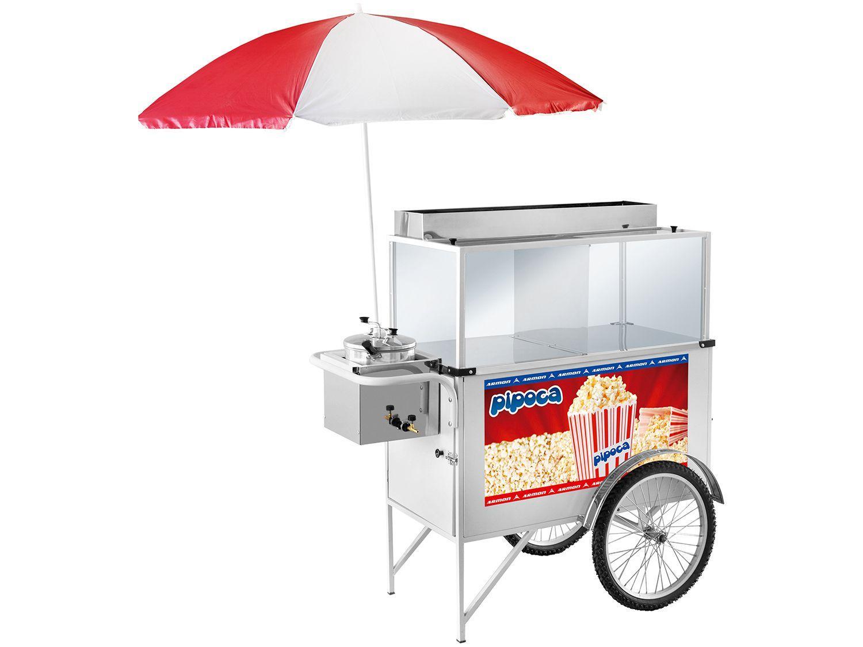 Carrinho de Pipoca Armon Street Food POP-026 - com Guarda-Sol