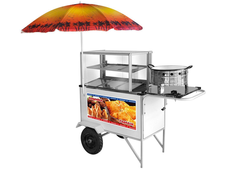 Carrinho de Salgados Armon Street Food CSR-034 - com Guarda-Sol
