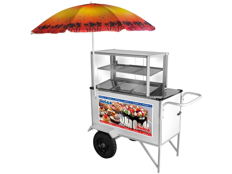 Carrinho de Doces Armon Street Food CDOBO-035 - com Guarda-Sol