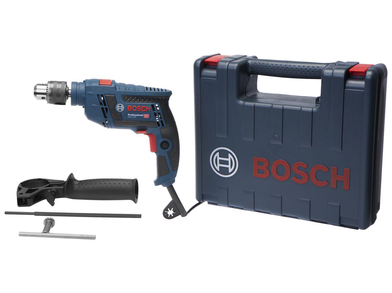 """Furadeira de Impacto Bosch 650W Velocidade - 1/2"""" com Maleta GSB 13 RE Professional"""