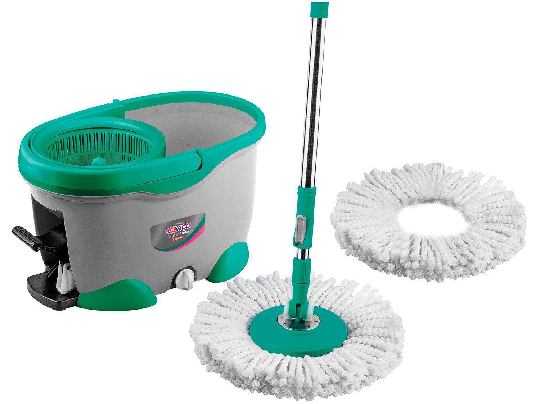 Mop Giratório com Balde Microfibra Bettanin Noviça - Twister Turbo