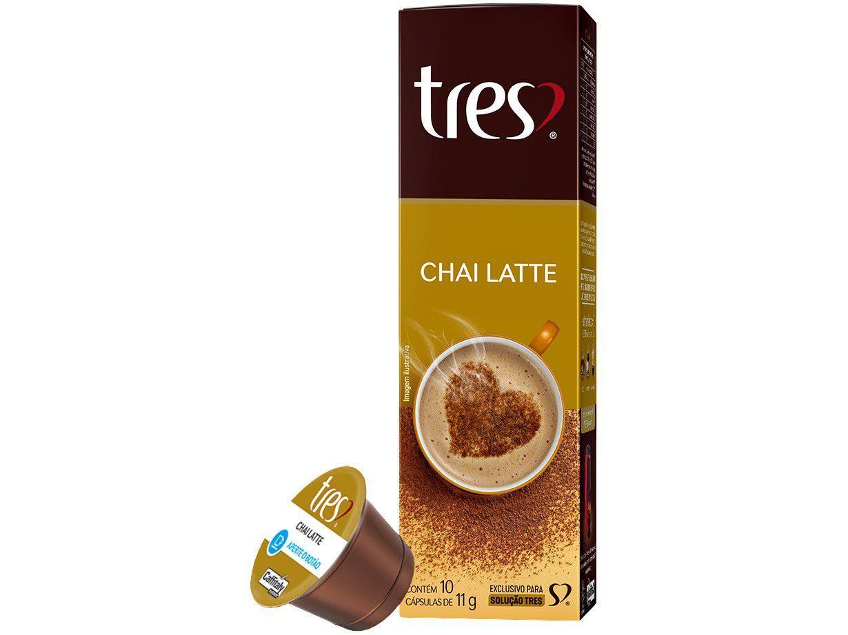 Cápsula Chai Latte TRES 3 Corações 10 Cápsulas