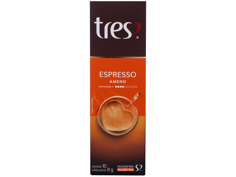 Cápsula de Café Espresso Ameno TRES 3 Corações - 10 Cápsulas