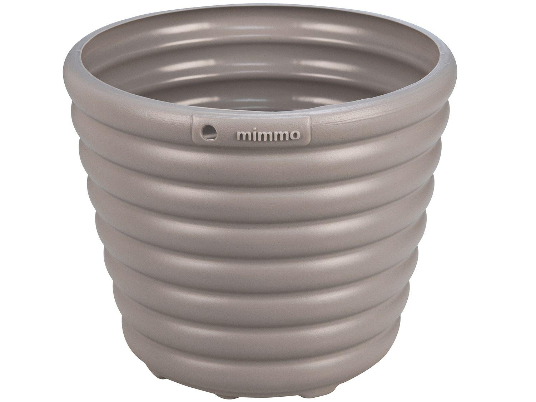 Cachepô/Vaso para Plantas 1,7L 16,2x13,5x16,2cm - Tramontina Sweet Garden Mimmo Cinza